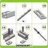 Kit Struttura 6 Pannelli Solari 40mm x Tetto a Falda Tegola Coppo o Tetto Grecato con Perno Tetto Metallo