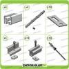 Kit Struttura 8 Pannelli Solari 35mm x Tetto a Falda Tegola Coppo o Tetto Grecato con Perno Tetto Metallo