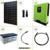 Impianto solare fotovoltaico 1.5KW 24V pannello monocristallino inverter onda pura Edison30 3KW PWM 50A batteria GEL