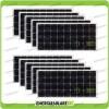 Set 10 Pannelli Solari Fotovoltaici 100W 12V Monocristallino Pmax 1000W Baita Barca