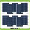 Set 10 Pannelli Solari Fotovoltaici 100W 12V Policristallino Pmax 1000W Baita Barca