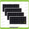 Set 4 Pannelli Solari Fotovoltaici 100W 12V Monocristallino Pmax 400W Baita Barca