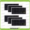 Set 6 Pannelli Solari Fotovoltaici 100W 12V Monocristallino Pmax 600W Baita Barca
