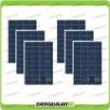 Set 6 Pannelli Solari Fotovoltaici 100W 12V Policristallino Pmax 600W Baita Barca