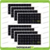 Set 8 Pannelli Solari Fotovoltaici 100W 12V Monocristallino Pmax 800W Baita Barca