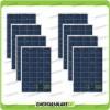 Set 8 Pannelli Solari Fotovoltaici 100W 12V Policristallino Pmax 800W Baita Barca