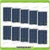Set 10 Pannelli Solari Fotovoltaici 10W 12V multiuso Pmax 100W Baita Barca