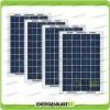 Set 4 Pannelli Solari Fotovoltaici 10W 12V multiuso Pmax 40W Baita Barca