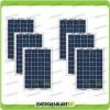 Set 6 Pannelli Solari Fotovoltaici 10W 12V multiuso Pmax 60W Baita Barca
