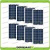 Set 8 Pannelli Solari Fotovoltaici 10W 12V multiuso Pmax 80W Baita Barca