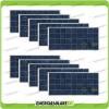 Set 10 Pannelli Solari Fotovoltaici 150W 12V Policristallino Pmax 1500W Baita Barca