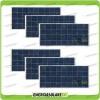 Set 6 Pannelli Solari Fotovoltaici 150W 12V Policristallino Pmax 900W Baita Barca