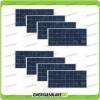 Set 8 Pannelli Solari Fotovoltaici 150W 12V Policristallino Pmax 1200W Baita Barca