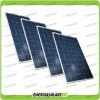 Set 4 Pannelli Solari Fotovoltaici 200W 12V Policristallino Pmax 800W Baita Barca