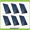Set 6 Pannelli Solari Fotovoltaici 200W 12V Policristallino Pmax 1200W Baita Barca