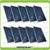 Set 10 Pannelli Solari Fotovoltaici 200W 12V Policristallino Pmax 2000W Baita Barca