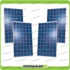 Set 4 x Pannelli Solari Fotovoltaico 250W Europeo 24V tot. 1000W Casa Baita Stand-Alone