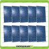 Set 10 x Pannelli Solari Fotovoltaico 250W Europeo 24V tot. 2500W Casa Baita Stand-Alone