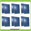 Set 12 x Pannelli Solari Fotovoltaico 250W Europeo 24V tot. 3000W Casa Baita Stand-Alone