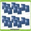 Set 20 x Pannelli Solari Fotovoltaico 250W Europeo 24V tot. 5000W Casa Baita Stand-Alone