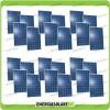 Set 24 x Pannelli Solari Fotovoltaico 250W Europeo 24V tot. 6000W Casa Baita Stand-Alone