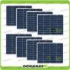 Set 8 Pannelli Solari Fotovoltaici 50W 12V multiuso Pmax 400W Baita Barca