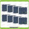 Stock 8 Pannelli Solari Fotovoltaici 5W 12V multiuso Pmax 40W
