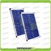 Set 2 Pannelli Solari Fotovoltaici 20W 12V multiuso Pmax 40W Baita Barca