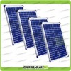 Set 4 Pannelli Solari Fotovoltaici 20W 12V multiuso Pmax 80W Baita Barca