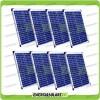 Set 8 Pannelli Solari Fotovoltaici 20W 12V multiuso Pmax 160W Baita Barca