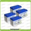 Stock 4 Batterie x Impianto Solare Ultracell 100Ah UCG100 Capienza 4224Wh
