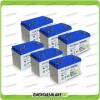 Stock 6 Batterie x Impianto Solare Ultracell 100Ah UCG100 Capienza 6336Wh