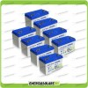Stock 8 Batterie x Impianto Solare Ultracell 100Ah UCG100 Capienza 8448Wh