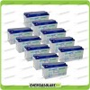 Stock 10 Batterie x Impianto Solare Ultracell 150Ah UCG150 Capienza 15792Wh