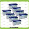 Stock 8 Batterie x Impianto Solare Ultracell 150Ah UCG150 Capienza 12633Wh