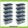 Stock 10 Batterie x Impianto Solare Ultracell 200Ah UCG200 Capienza 19200Wh