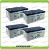 Stock 4 Batterie x Impianto Solare Ultracell 200Ah UCG200 Capienza 7680Wh