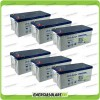 Stock 6 Batterie x Impianto Solare Ultracell 200Ah UCG200 Capienza 11520Wh