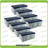 Stock 8 Batterie x Impianto Solare Ultracell 200Ah UCG200 Capienza 15360Wh