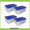Stock 4 Batterie x Impianto Solare Ultracell 250Ah UCG250 Capienza 10272Wh