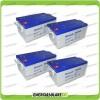 Stock 4 Batterie x Impianto Solare Ultracell 250Ah UCG250 Capienza 10272Wh