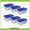 Stock 6 Batterie x Impianto Solare Ultracell 250Ah UCG250 Capienza 15408Wh