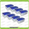 Stock 8 Batterie x Impianto Solare Ultracell 250Ah UCG250 Capienza 20544Wh