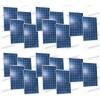 Set 20 Pannelli Solari Fotovoltaici 280W Extra-Europeo 24V tot. 5600W Casa Baita Stand-Alone