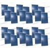 Set 24 Pannelli Solari Fotovoltaici 270W Europeo 30V tot. 6480W Casa Baita Stand-Alone