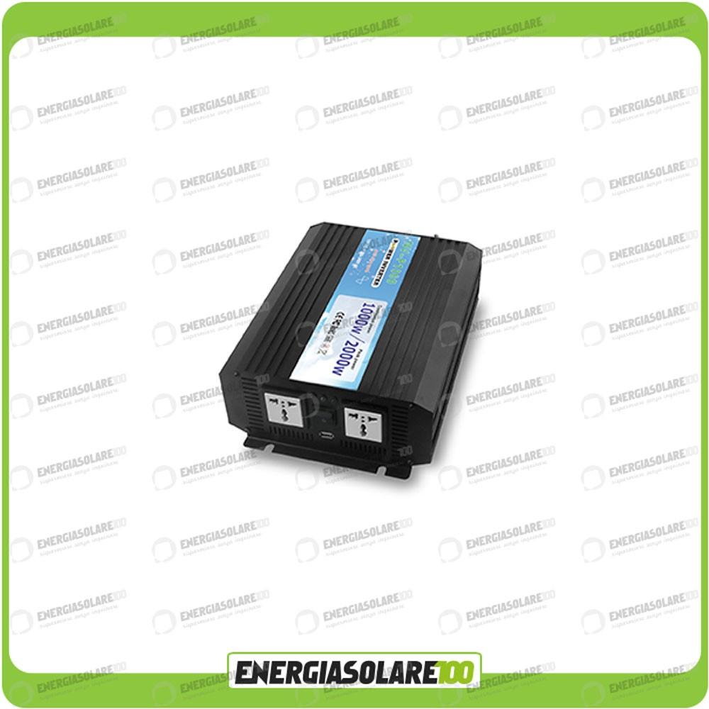 Pannello Solare Per Batteria 100 Ah : Kit baita pannello solare w v inverter onda pura