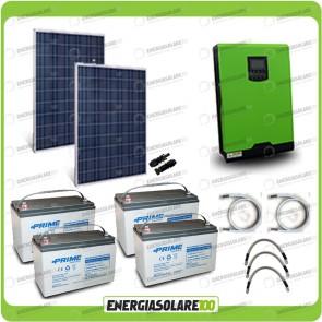Kit solare fotovoltaico 500W Inverter onda pura Edison50 5000VA 4000W 48V PWM 50A Batterie AGM