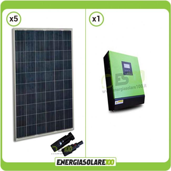Kit solaire photovoltaique pour maison 1 2kw panneau solaire onduleur hybride - Panneau solaire hybride ...