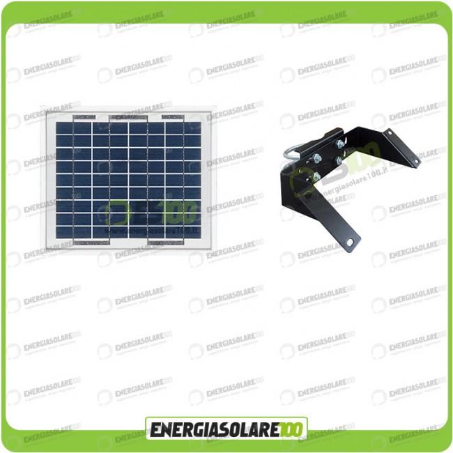Kit Panneau Solaire Photovoltaïque 5W 12V Support de fixation Réglable