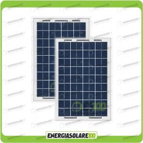 Stock 2 Pannelli Solari 10W 12V